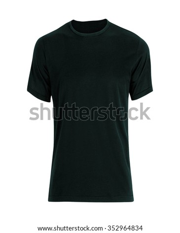 black t-shirt isolated - Shutterstock ID 352964834