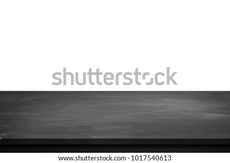 Black table top isolated on white background. #1017540613