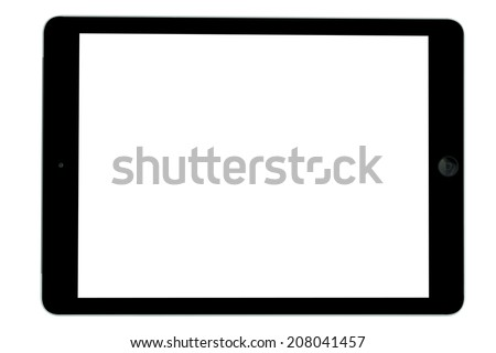 Black tablet computer blank screen isolated on over white background Stock photo ©