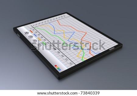 Black tablet or Tablet PC