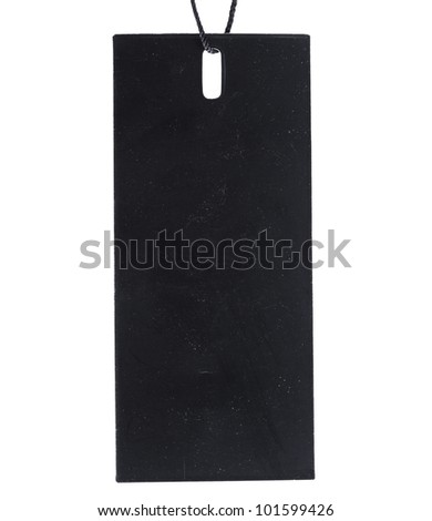 Black Tag Label isolated on white background