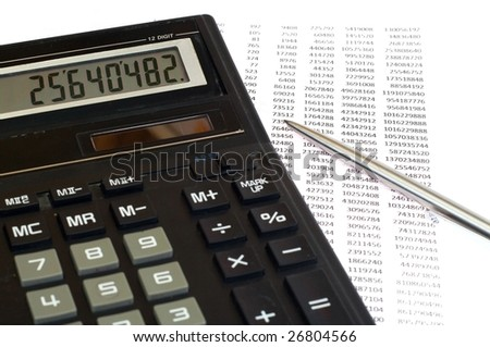 black tax calculation and pen