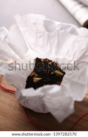 Black tea with fruit, an aromatic, aromatic mix.