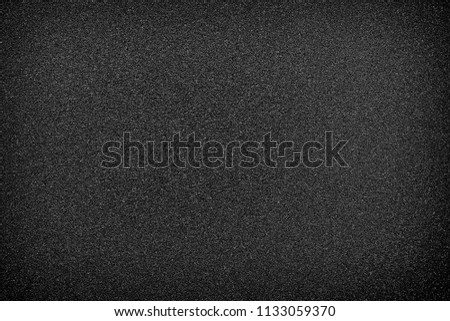 black texture and background and black sand paper texture  #1133059370