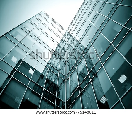 black texture of glass transparent skyscrapers at night