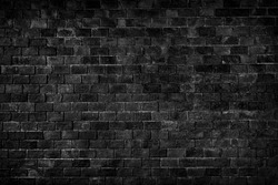 black texture with brick wall for background website or brickwork for design