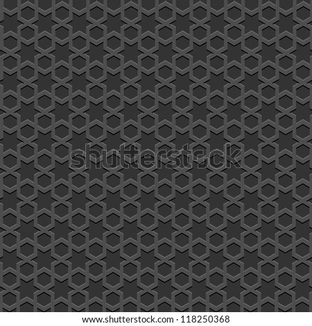 Black textured Islamic pattern. Vector seamless background