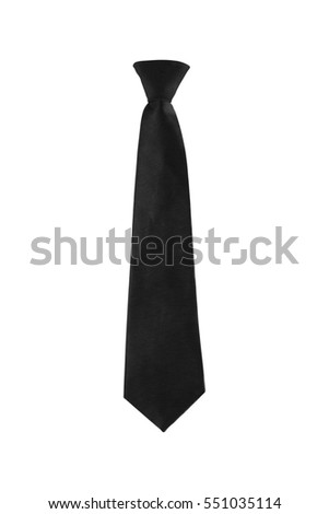 black tie on a white background isolated