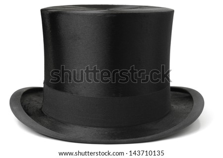 Black top hat isolated on white background Сток-фото ©