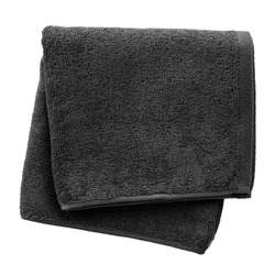 Black towel isolated on white background