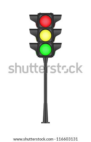 Black traffic light, bitmap copy.