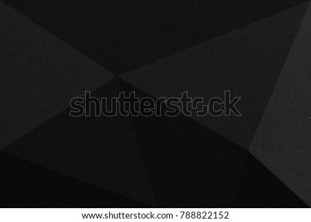 Black triangular abstract background, Grunge surface #788822152