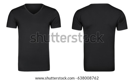 Black tshirt, clothes on isolated white background - Shutterstock ID 638008762