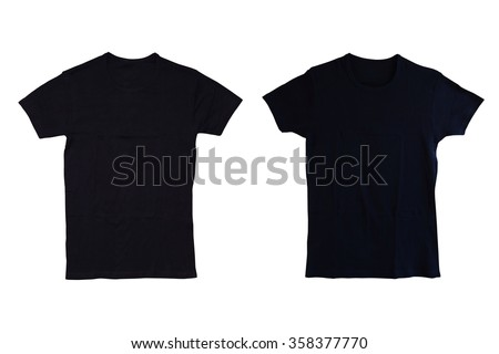 Black tshirt isolated #358377770