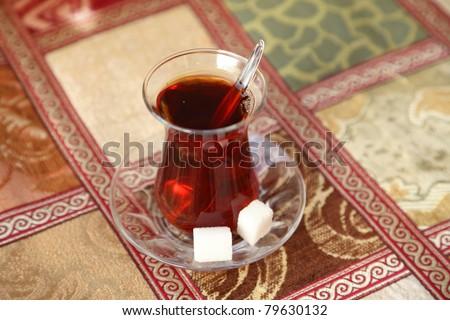 Black turkish tea as served in Istanbul