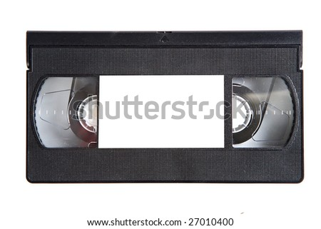 Black videotape on a over white background