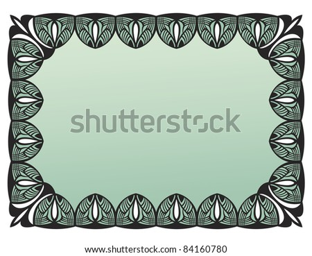 Black vintage art deco frame, vector version also available in my portfolio