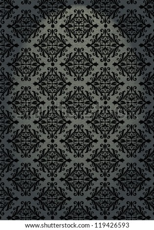 Black vintage background pattern