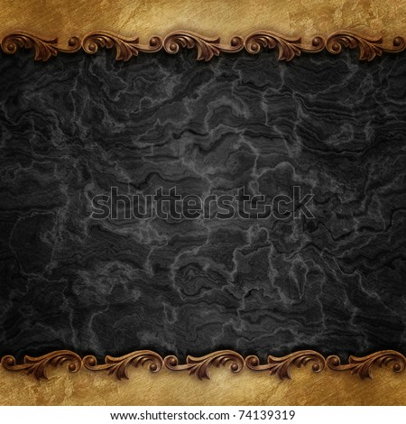 black vintage background with ornate frames