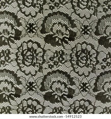 black vintage lace