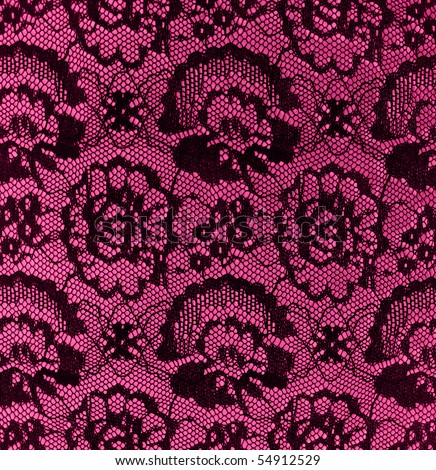 black vintage lace on pink