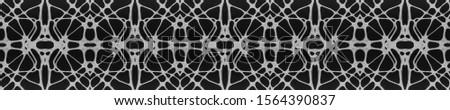 Black Vintage Seamless Background. Ornamental Geometry. Ethnic Ornament Print. Black Tile Dressing element Antique Element Luxury Kaleidoscope Art. Floral Elements Floral Design.