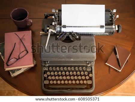 black vintage typewriter...