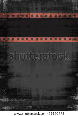 black vintage with film strip headline