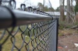 Black Vinyl Coated Chainlink Fence