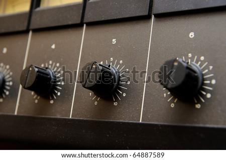 Black volume knobs