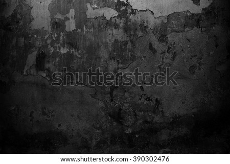 Black wall background. Grunge wall texture