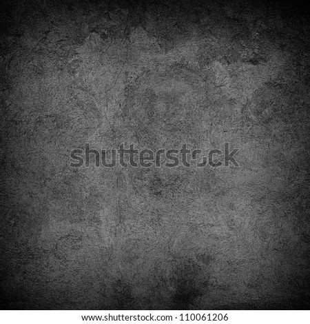 Black wall background or texture