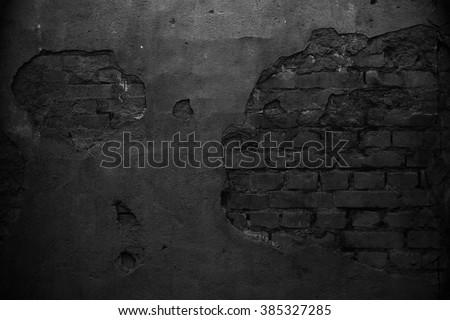 Black wall. Grunge wall texture. Blackboard