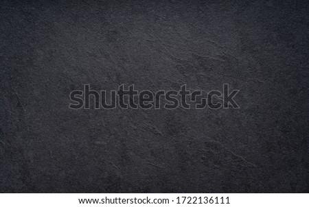 Black wall slate texture rough background, dark concrete floor or old grunge background
