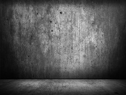 black wall texture for background, dark concrete or cement floor old black with elegant vintage distressed grunge texture and dark gray charcoal color paint