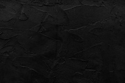 Black wall texture rough background dark . concrete floor or old grunge background with black