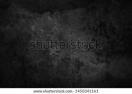 Black wall texture rough background dark concrete floor or old grunge background with black