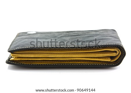 black wallet on white isolated
