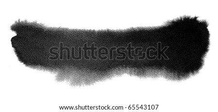 black watercolor brush strokes