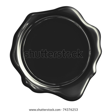 Black wax stamp (clipping path)