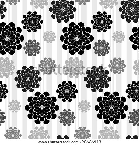 black white grey flowers wedding