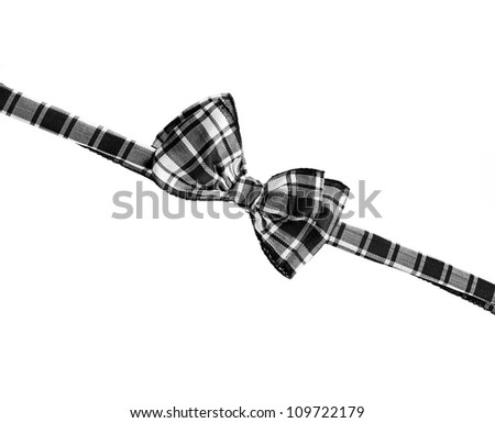 black white bow tie, isolated on white
