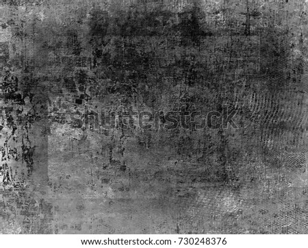 Black-White Grunge Dark Pattern. Wide-Screen Background. #730248376