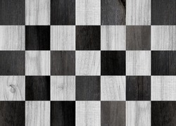 Black-white parquet with chess pattern. Texture of wooden boards. Black and white panel of boards for wall decoration. Wooden planks, oak, for flooring. Wood texture for background.