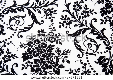 Black & white Seamless Floral Pattern