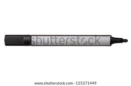 Black whiteboard marker isolated on white background