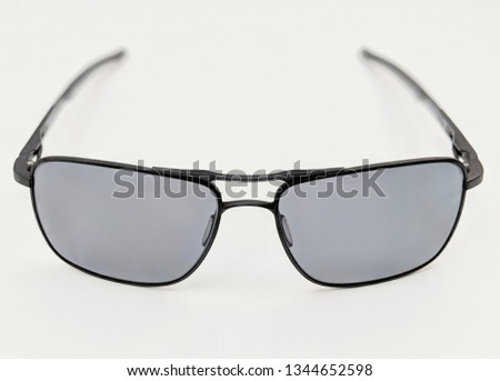 Black wire frame sunglasses with lightly tinted lenses  #1344652598