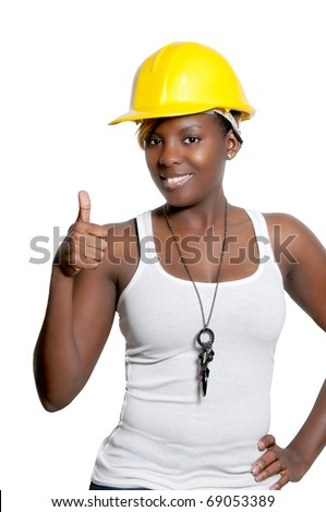 Black woman African American construction worker