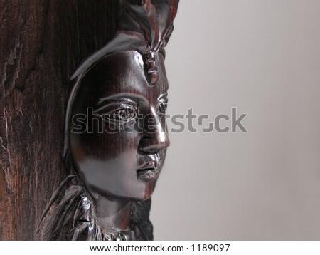 black woman's portrait made of wood - Shutterstock ID 1189097
