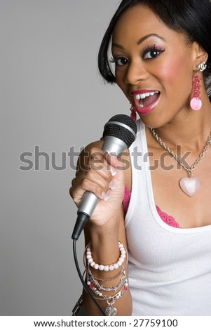 Black Woman Singing